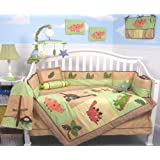SoHo Dinosaur Story Baby Crib Nursery Bedding Set 13 pcs included Diaper Bag with Changing Pad & Bottle Case ** Special ! ** ~ SoHo Designs
