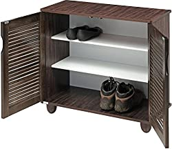 Royal Oak Libra Double Door Shoe Rack with 3 Shelves (Honey Brown)