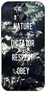 Snoogg Obey Nature Designer Protective Back Case Cover For HTC M8