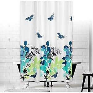 textile rideau de douche NATURA 240x180 bagues inclue blanche violet bleu noir 240 x 180