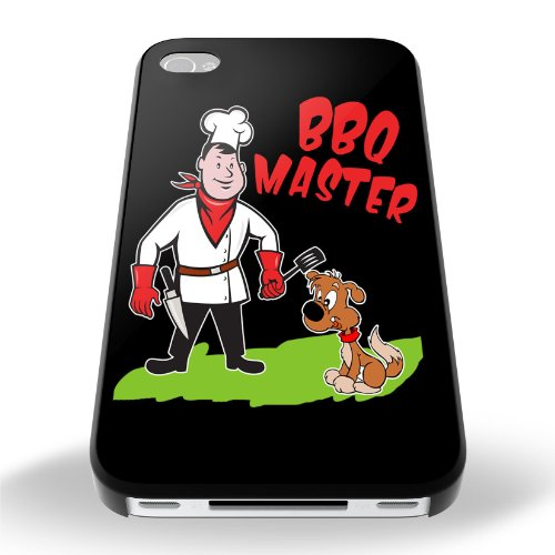 Black Cover For Iphone 5 / 5S BBQ Master Funny Phone Case Shell