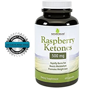 Pure Raspberry Ketones Plus Best Formula Highest Grade Weight Loss Supplement Dr Oz Recommended Dosages 120 Caps Guaranteed By Nature Bound from Nature Bound