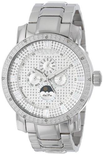 Akribos Xxiv Men'S Ak613Ss Grandiose Diamond Multi-Function Stainless Steel Bracelet Watch