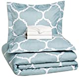 AmazonBasics 7-Piece Bed-In-A-Bag - Full/Queen, Dusty Blue...