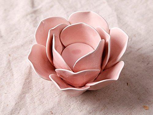 Lx.AZ.Kx Flor de cerámica creativa americana candeleros decoraciones hogareñas European-Style Salón Dormitorio pequeño escritorio Ornamentse Cafe Incienso)