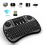 Rii 2.4GHz BACKLIT Wireless Mini Kodi Keyboard with Touchpad Mouse for Raspberry Pi 2, MacOS, Linux, HTPC, IPTV, Google Android TV Box, Windows (i8+)