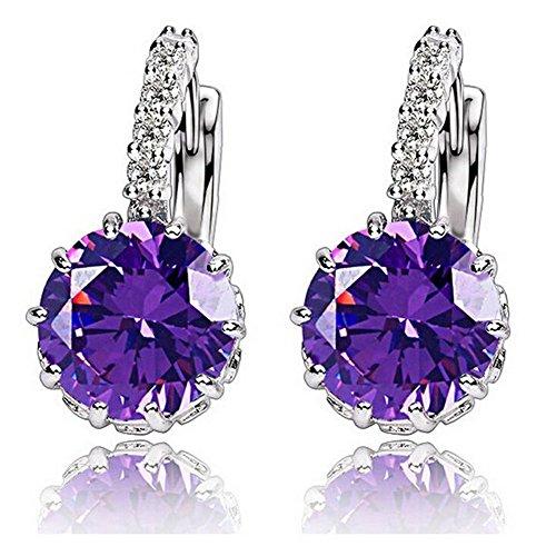 1-pair-fashion-women-elegant-crystal-rhinestone-silver-plated-ear-stud-earrings-purple