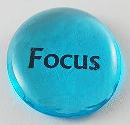 Focus Colored Glass Focus Imprinted Stones - Words