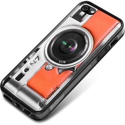 id America Cushi Plus Camera iPhone 5対応 【3Dクッションシール 側面バンパーセット】 Org CSIAF509-Org-A