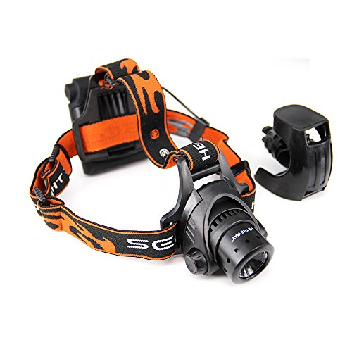 ON THE WAY LED Headlights/Headlamp | Wearable Light 4-in-1 | 220 Lumens, Zoomable, Outdoor/Indoor, Water Resistant, - For Hiking, Biking, Camping,Kids, Reading, Military, Auto Repair . Provide Safety and Security - Fit Around Head, Helmet, Bike or Belt.