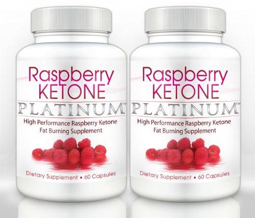 Cétone framboise Platinum (2 bouteilles) - Force clinique - Tous graisse naturelle de brûlure, perte de poids, l'alimentation Formula, 60 capsules