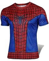 G-LIKE Men's Red Spider Man Short T-shirt