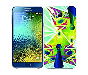 Galaxy Printed 2595 Peacock Geometry Dual Hard Cover for Samsung GRAND NEO
