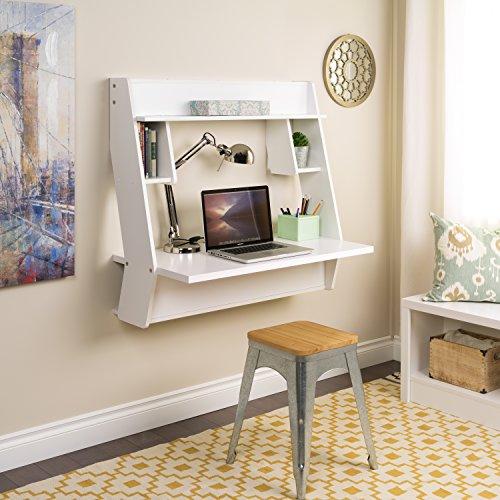 Prepac WEHW-0900-1 Studio Floating Desk, White