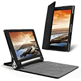 Celicious Notecase W2 Folio Wallet Case for Lenovo Yoga Tablet 10 HD+ [Black]