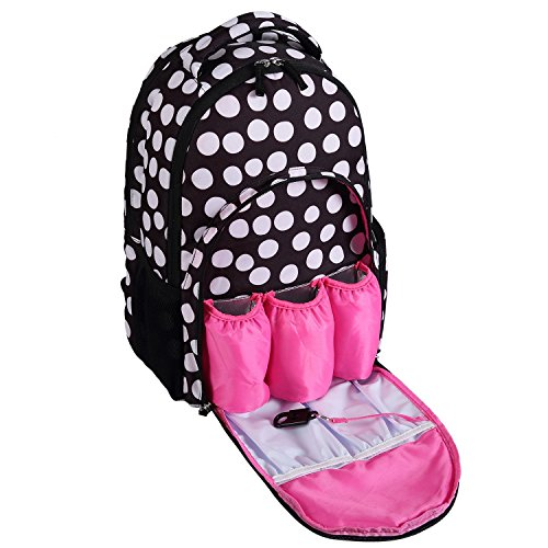 baby-diaper-bag-smart-organizer-large-capacity-diaper-backpack-with-3-insulated-pockets-black