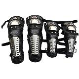 1 Set Adult Protective Gear Alloy Steel Knee Elbows Guards Body Armor Set w  Adjustable Elastic... by SpeedShop