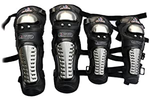 New Anatomical Adult Protective Gear Racing Enforcer Stainless Steel Alloy Leather... by SpeedShop