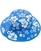 Chapeau Reversible Sun Baby Banz - Blanc Blue And/Bleu Blanc And
