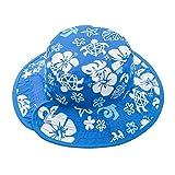 Banz(バンズ) オーストラリア発 リバーシブルハット UPF50+ UVカット ベビー用 ブルー/ホワイト