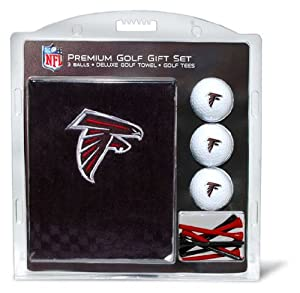NFL Atlanta Falcons Embroidered Golf Towel (3 Golf Balls 12 Tee Gift Set) by Team Golf
