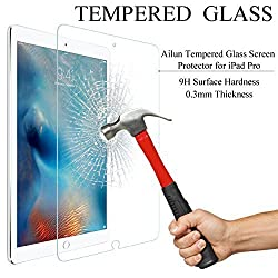 iPad Pro Screen Protector,by Ailun,Premium Tempered Glass,9H Hardness,2.5D Curved Edge,Ultra Transparency,Bubble Free,Touchscreen Accuracy,Anti-Scratch&Shatter&Fingerprint&Oil Stain,Case Friendly
