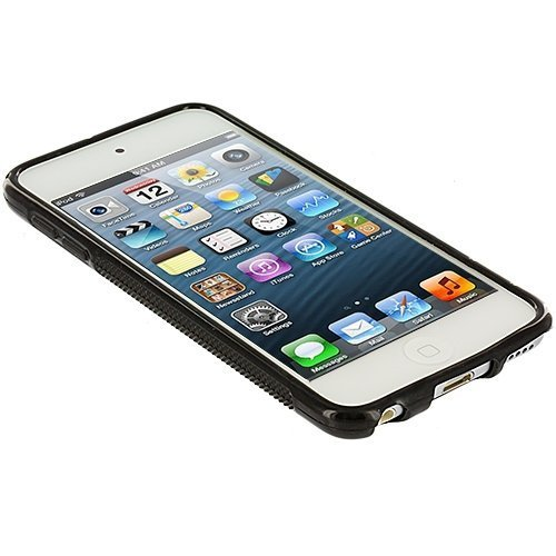 Black S-Line TPU Rubber Skin Case Cover for Apple iPod Touch 5th Generation 5G 5 bastexwireless bastex tpu case for apple ipod touch 5 5th generation