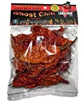 Smoked Dried Ghost Chili Pepper - Organic, Authentic Indian Bhut Jolokia - Whole Pods (1/2 oz)