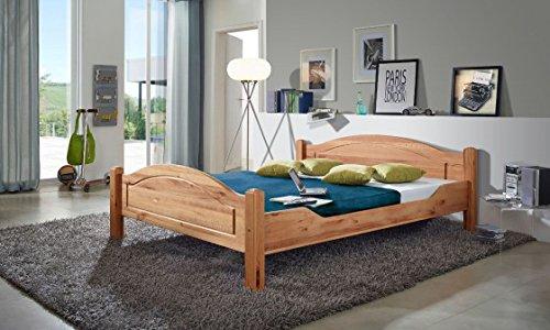 XXS® Möbel Massiv Holz Bett Hans 140 x 200 cm Kernbuche geölte, pflegeleichte Oberfläche natürliches Design hochwertige Verarbeitung Lager Paketdienst