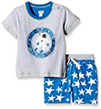 Hatley Infant Tee & Short Set-Astronauts In Space-Conjunto Bebé-Niñas    Multicolor Multicoloured (Grey) 3-6 Meses