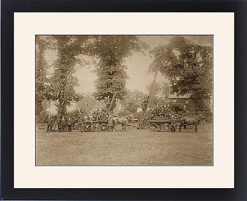 Framed Print Of Horsed Appliances Of The London Fire Brigade front-564523