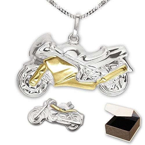 clever-schmuck-pendentif-moto-plaque-or-bicolore-avec-un-argent-925-boucles-doreilles-et-chaine-50-c