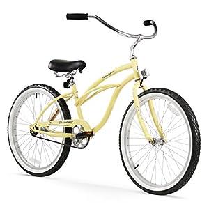 Firmstrong Urban Lady Single Speed Beach Cruiser Bicycle, 24-Inch, Vanilla