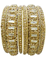 Antique Gold Plated Wedding Bangles Set By My Design(size-2.6)