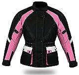 Jazz Pink - Damen Motorradjacke - Cordura - Wasserdicht -