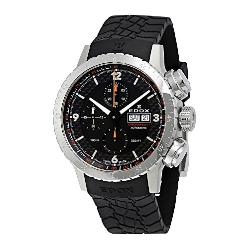 Edox-Mens-01118-3-NO-Chronorally-1-Analog-Display-Swiss-Automatic-Black-Watch