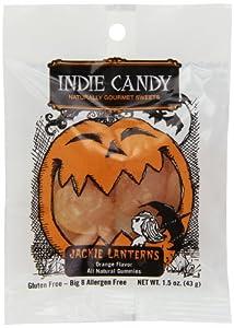 Indie Candy Jack O Lantern Gummi, Orange Flavor, 1.5-Ounce (Pack of 12)