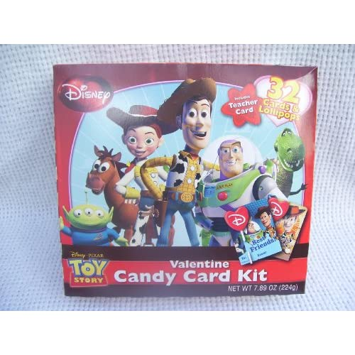Amazon.com : Toy Story Valentine Candy Card Kit 32 Cards