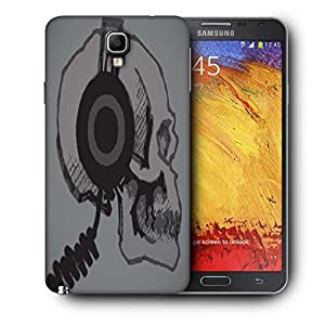 Snoogg Skull With Headphones Printed Protective Phone Back Case Cover For Samsung Galaxy NOTE 3 NEO / Note III