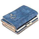 #2: Small Umbrella Wallet Button Clutch Purse Bag Faux Leather Women Wallets Purses