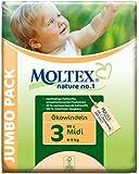 Moltex Nature No1 Eco Nappy Midi Size 3 (4-9 kg/9-20 lb)--Pack of 80 Nappies