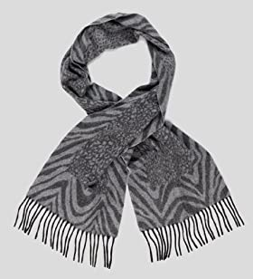 Pure Cashmere Animal Print Scarf