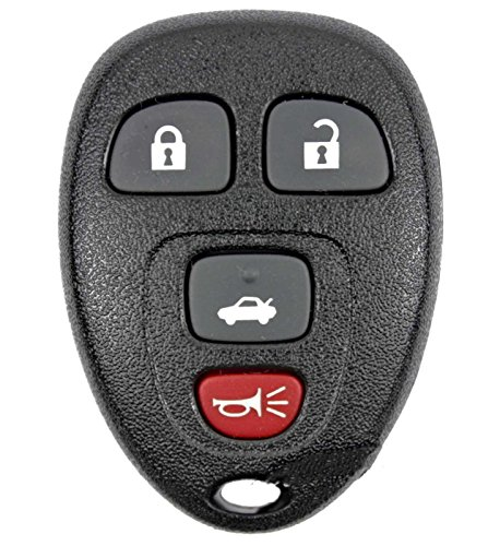Keyless2Go New Keyless Entry Replacement Remote Car Key Fob for Select Malibu Cobalt LaCrosse Grand Prix G5 G6 Models that use 15252034 KOBGT04A Remote (2008 Pontiac G6 Remote Key Fob compare prices)