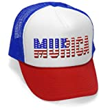 MURICA FOURTH OF JULY USA - 4th america patriot Mesh Trucker Cap Hat Cap, RWB