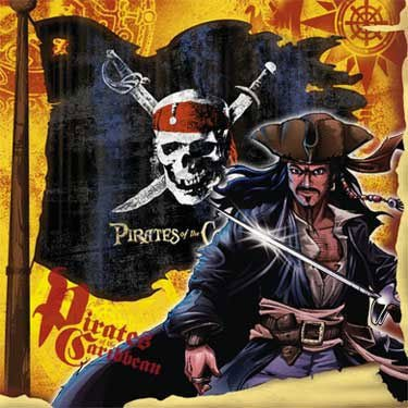 Pirates of the Caribbean 3 Beverage Napkins, 16ct