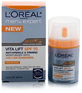 L'Oreal Paris Men's Expert Vita Lift Anti-Wrinkle and Firming Moisturizer, SPF 15, 1.6 Ounce