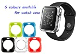 Apple Watch Case, Mosiso Premium TPU Cases [5 Colors Combination Pack] for Apple Watch / Watch Sport / Watch Edition Release 2015 (38 mm)