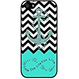 Generic S9Q Anchor Chevron Retro Vintage Tribal Nebula Pattern Hard Case Cover Back Skin Protector For Apple iPhone 4 4S Style C Blue