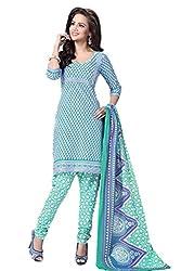 HIFI Ethnicwear Women's Dress Material(HIFI SS2609_Turquoise_Free Size)