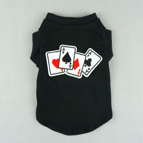 Fitwarm Stylish Pet Poker Shirts for Dog Tank Vest T-shirts Soft Cotton Cat Clothes, XX-small